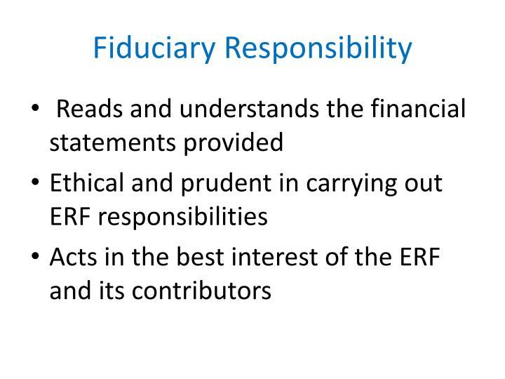 Fiduciary Responsibility