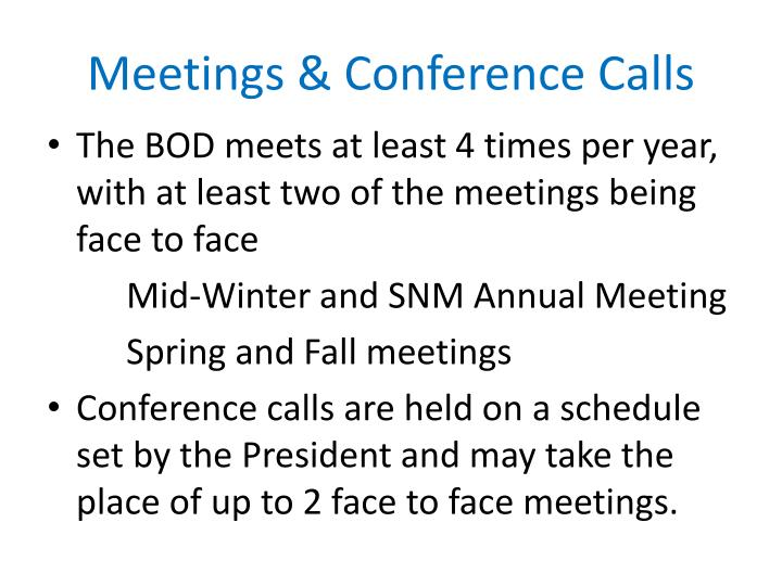 Meetings & Conference Calls