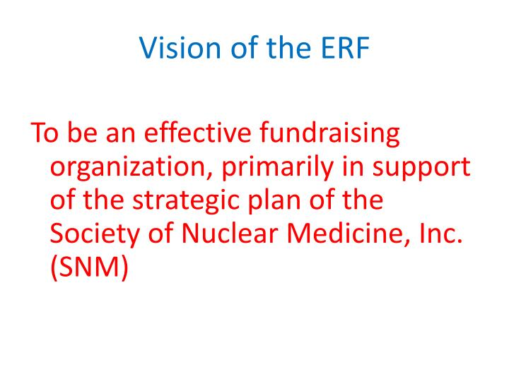 Vision of the ERF