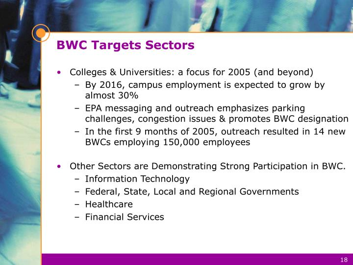 BWC Targets Sectors