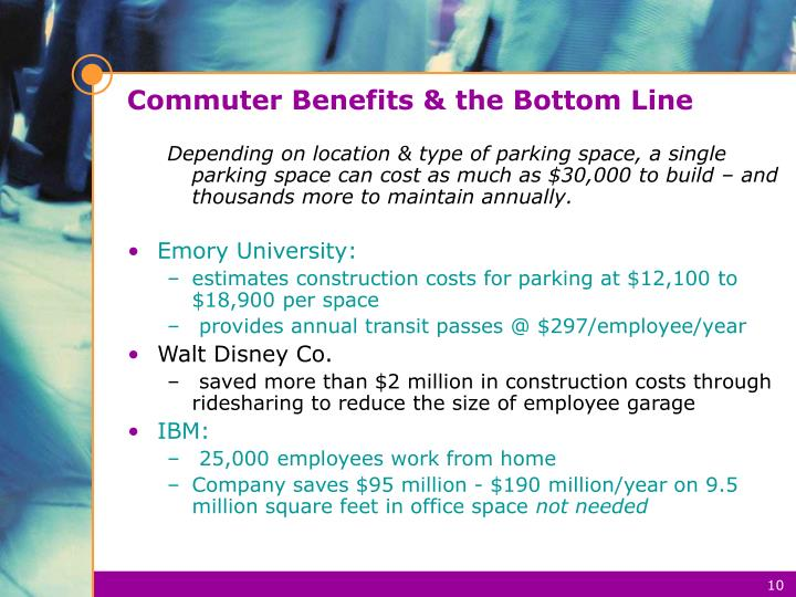Commuter Benefits & the Bottom Line
