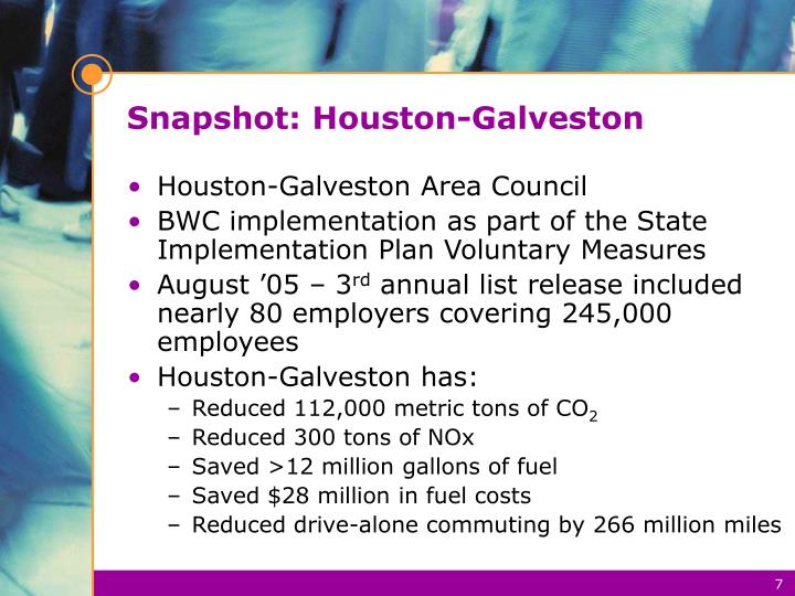 Snapshot: Houston-Galveston