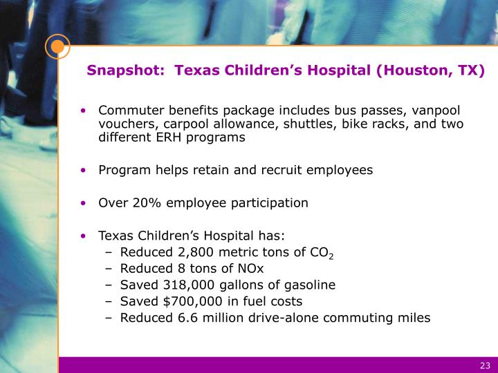 Snapshot:  Texas Children's Hospital (Houston, TX)