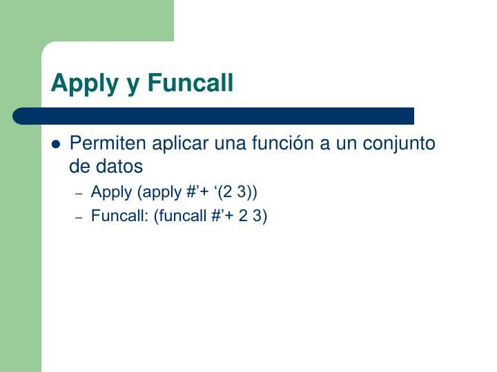 Apply y Funcall