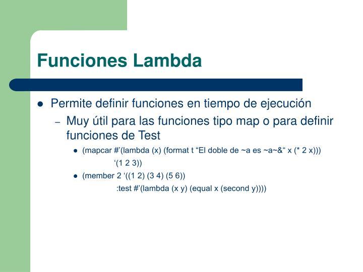 Funciones Lambda