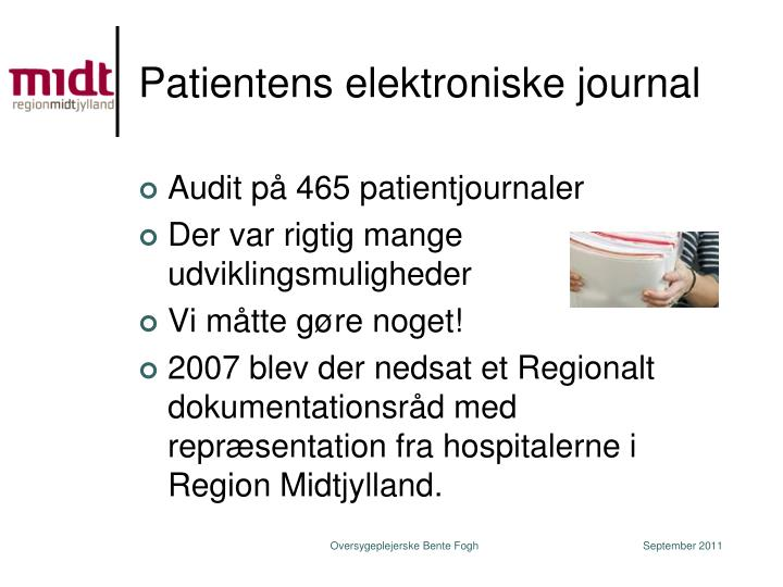 Patientens elektroniske journal
