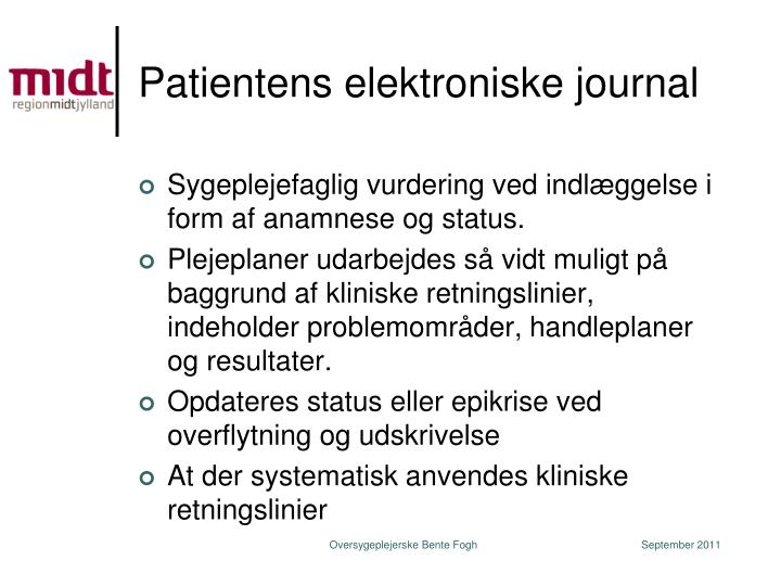 Patientens elektroniske journal