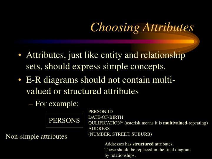 Choosing Attributes