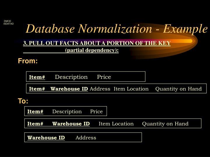 Database Normalization - Example