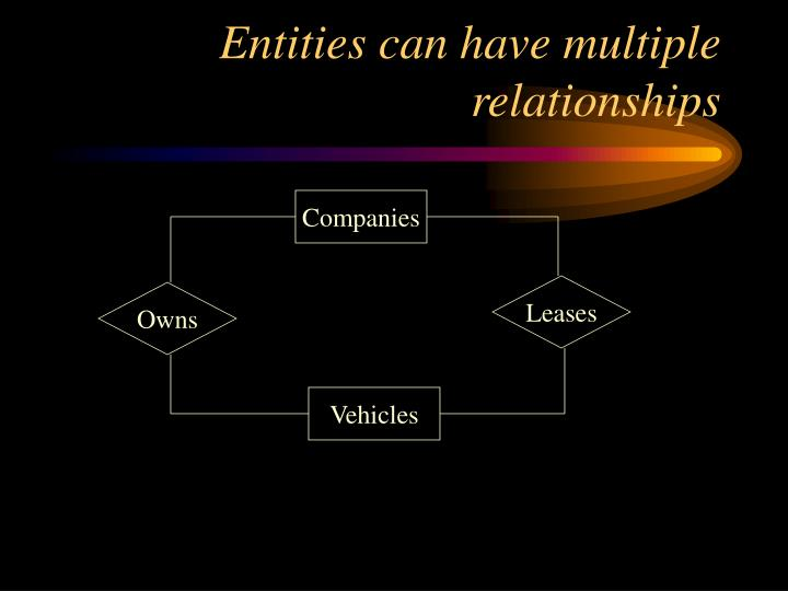 Entities can have multiple relationships