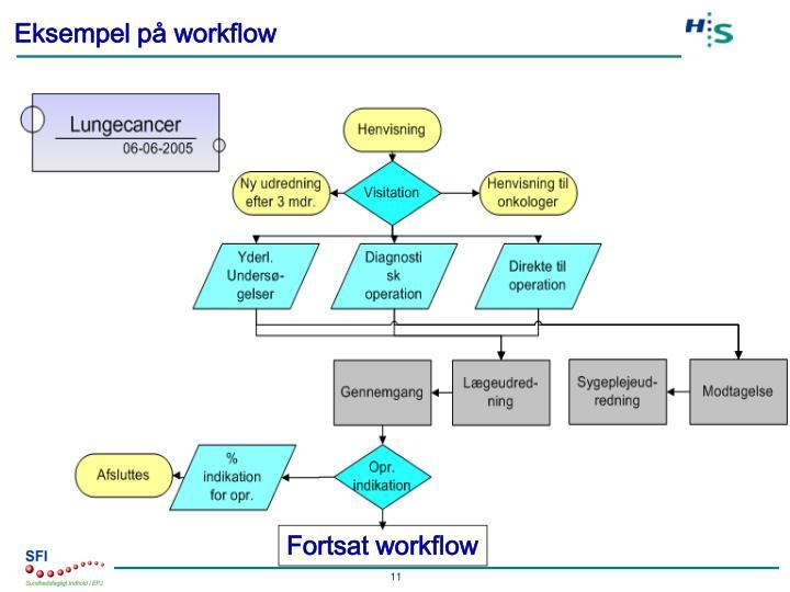 Eksempel på workflow