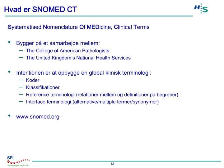 Hvad er SNOMED CT