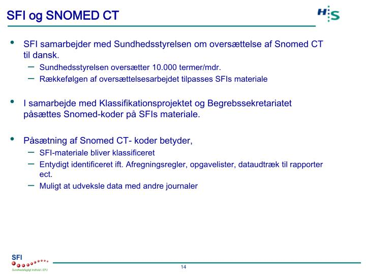SFI og SNOMED CT