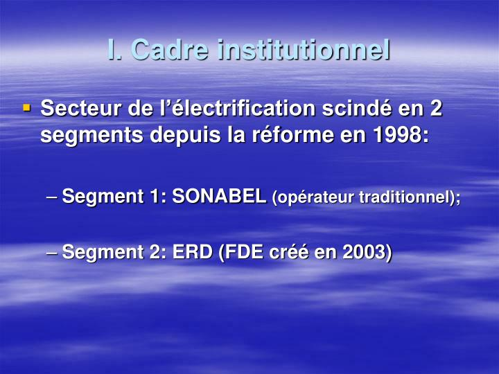 I cadre institutionnel