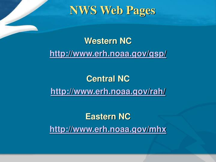 NWS Web Pages