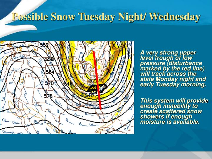 Possible Snow Tuesday Night/ Wednesday