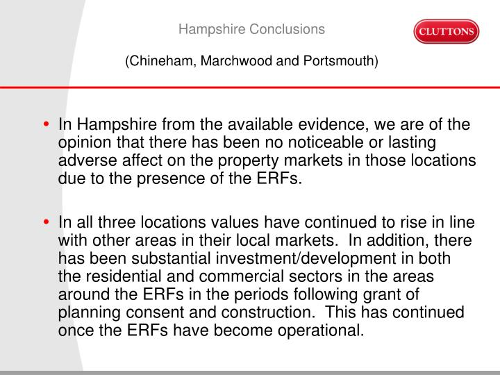 Hampshire Conclusions