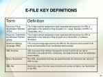 e file key definitions