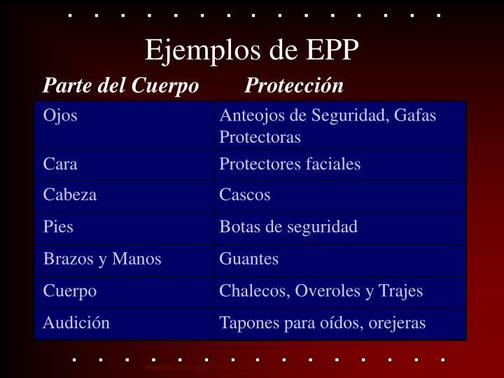 Ejemplos de EPP