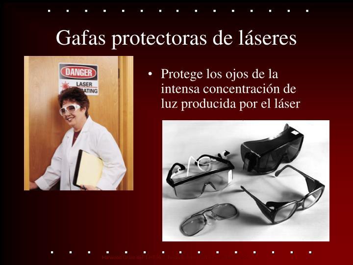 Gafas protectoras de láseres