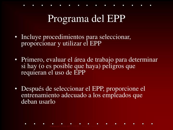 Programa del EPP