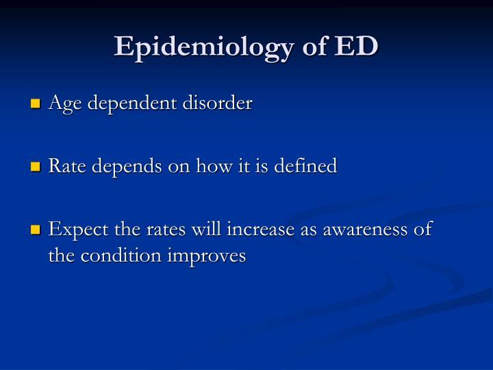Epidemiology of ED