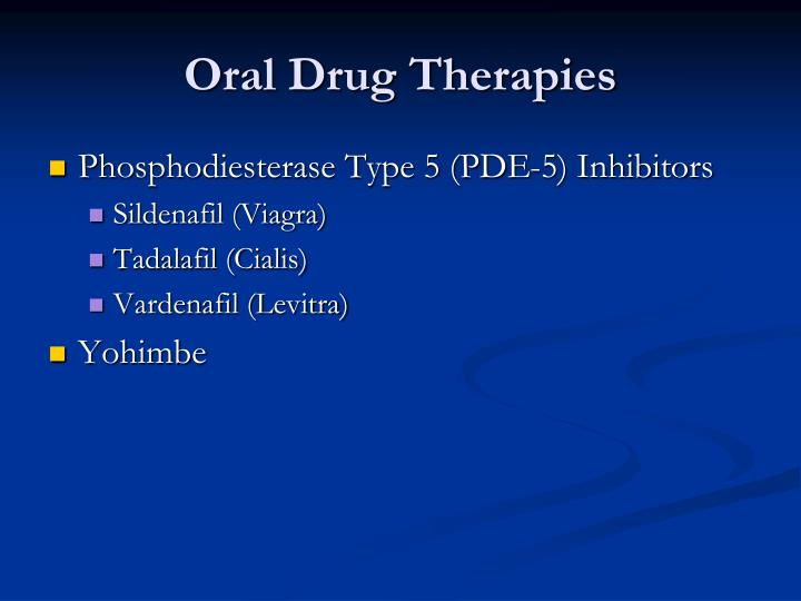 Oral Drug Therapies