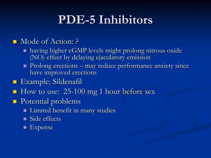 PDE-5 Inhibitors