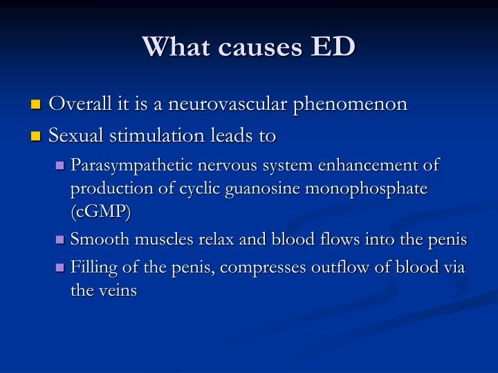 What causes ED