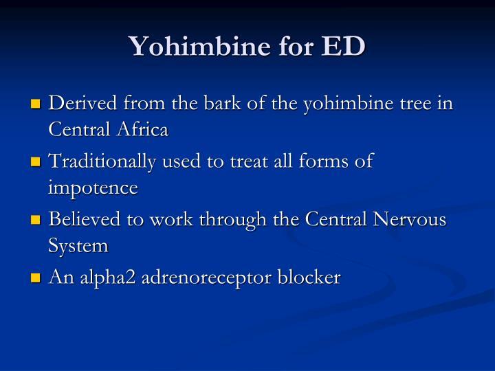 Yohimbine for ED