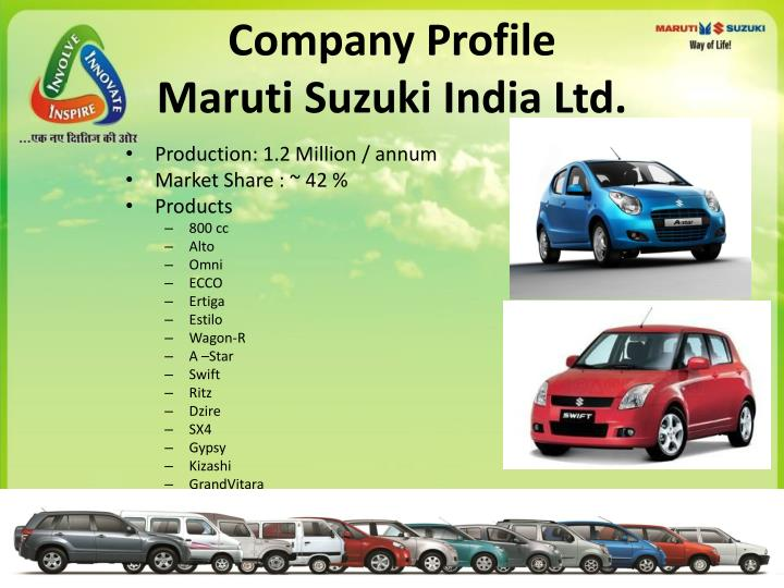 conclusion of maruti suzuki company About company maruti suzuki india limited (msil) is primarily in the   conclusion maruti udyog limited had a prime objective to meet the.
