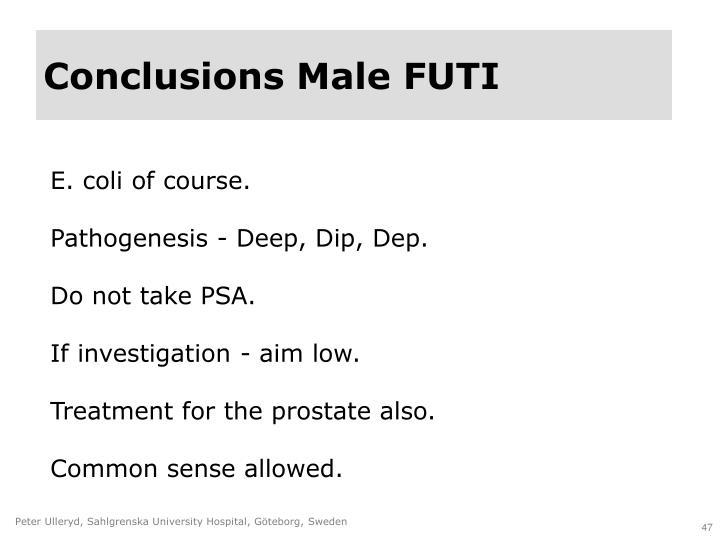 Conclusions Male FUTI