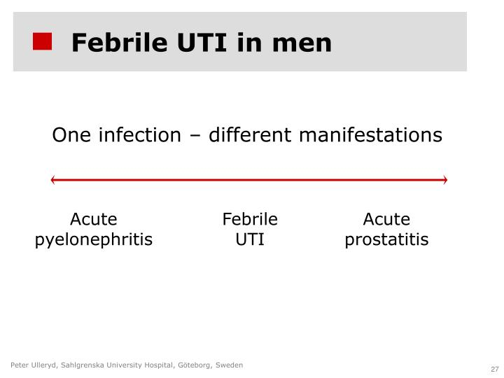 Febrile UTI in men