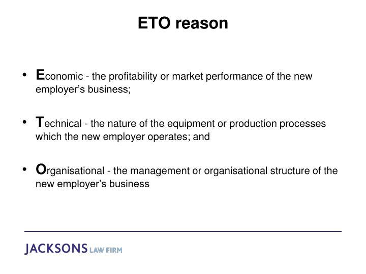 ETO reason