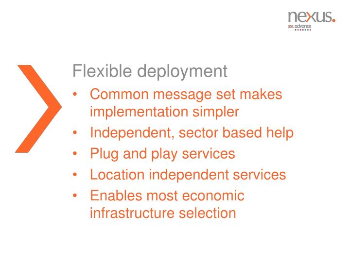 Flexible deployment