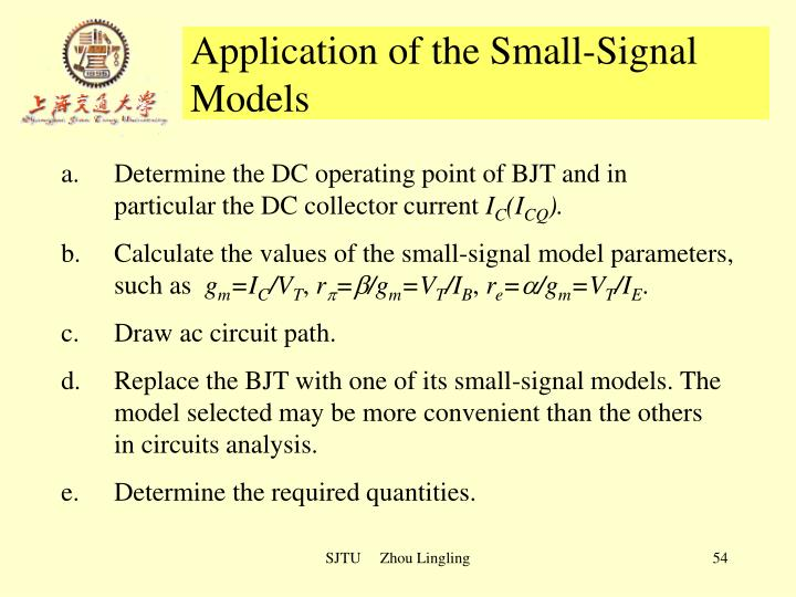Application of the Small-Signal Models