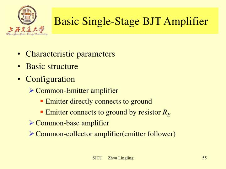 Basic Single-Stage BJT Amplifier