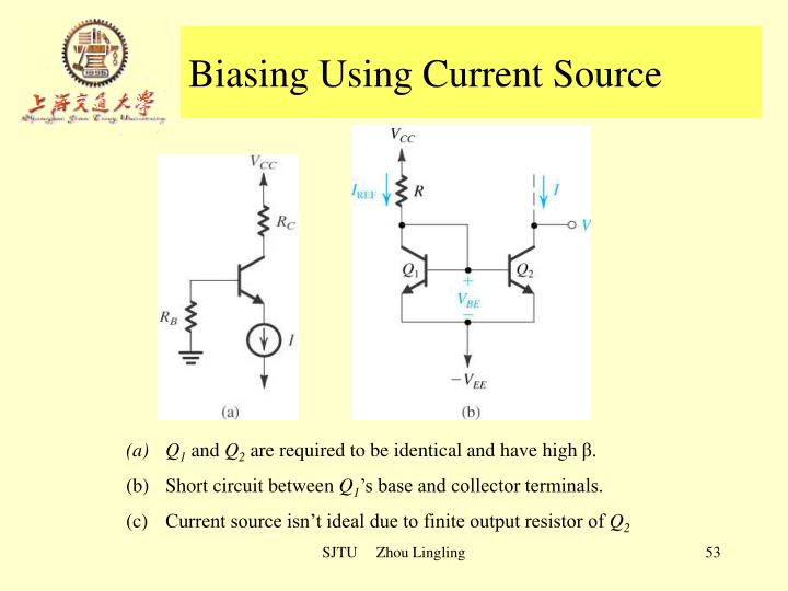 Biasing Using Current Source