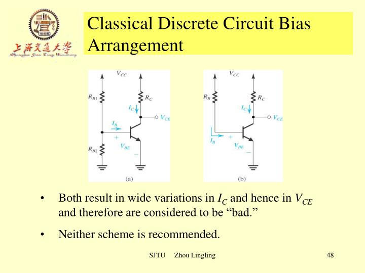 Classical Discrete Circuit Bias Arrangement