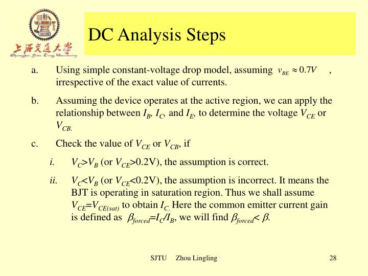 DC Analysis Steps