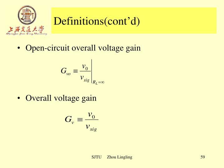 Definitions(cont'd)