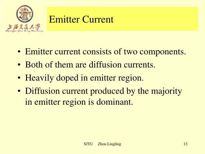 Emitter Current