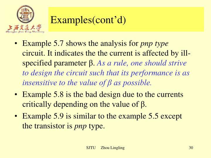 Examples(cont'd)