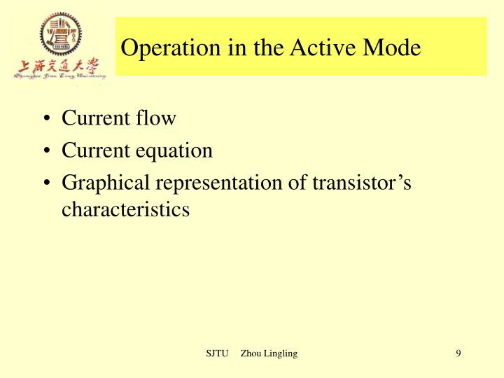 Operation in the Active Mode