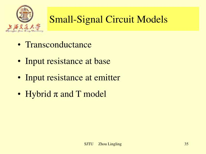 Small-Signal Circuit Models