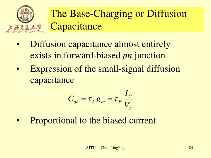 The Base-Charging or Diffusion Capacitance