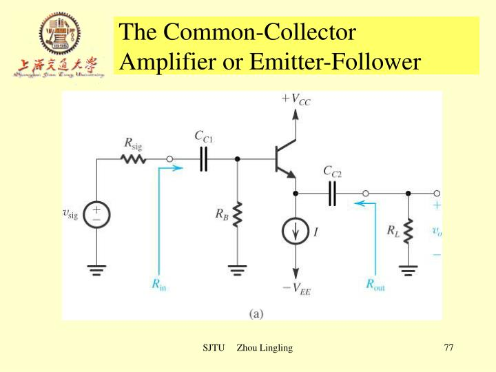 The Common-Collector 		      Amplifier or Emitter-Follower