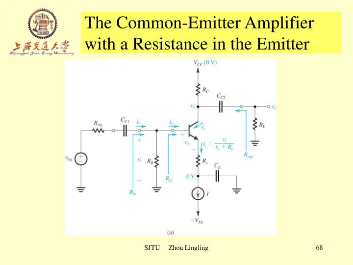 The Common-Emitter Amplifier with a Resistance in the Emitter