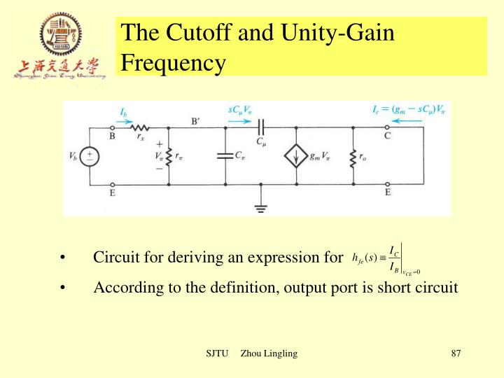 The Cutoff and Unity-Gain Frequency