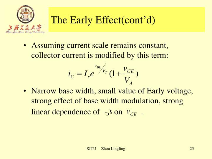 The Early Effect(cont'd)